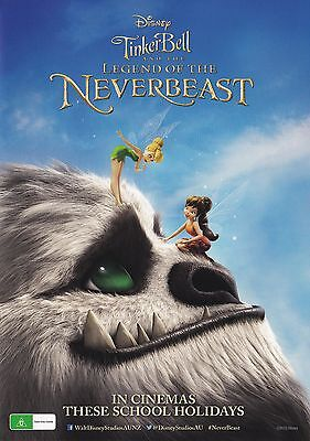 Promotional Movie Sheet - Disney's TINKERBELL AND THE LEGEND OF THE NEVERBEAST