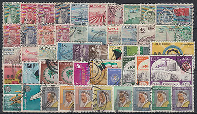 Kuwait Selection of 200 diff. postally used stamps Collection/Sammlung [st3430]