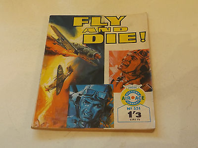 AIR ACE PICTURE LIBRARY,NO 524,1970 ISSUE,GOOD FOR AGE,47 yrs old,V RARE COMIC.