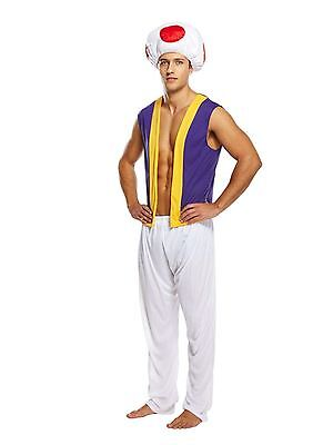 Mens Adult Mushroom Costume Theme Party Game Fancy Dress Halloween Outfit
