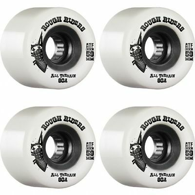 Bones Skateboard Wheels ATF Rough Riders White 59MM 80B RRP $79