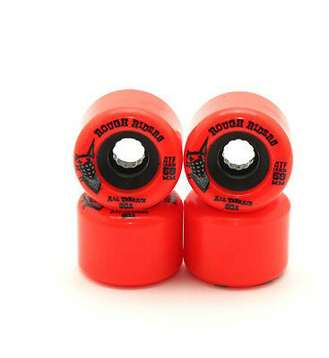 Bones Skateboard Wheels ATF Rough Riders Red 59MM 80B RRP $79