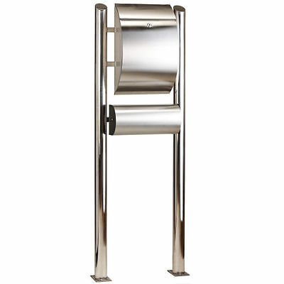 """European free standing Stainless Steel Mailbox letterbox post mail 55"""" height"""