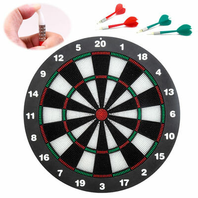 NEW Safe Family Dart Board Game Set with 6 Soft Rubber Tip Darts for Kids Adults