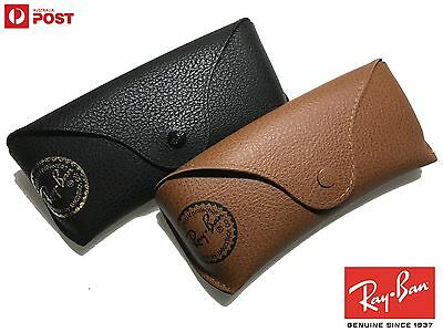 RayBan Leather Case w/ cleaning cloth (Fits Wayfarer, Aviator, Clubmaster, etc)