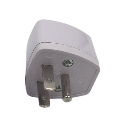 AU UK EU to US AC Power Plug Adapter Adaptor Converter Outlet Home Travel Wall ^