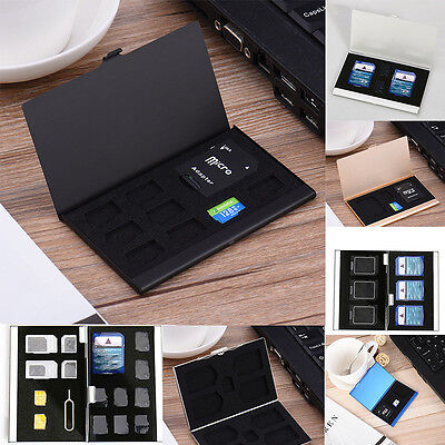 Metal Memory Card Storage Case Protective Holder Box For CF TF SD SIM Card