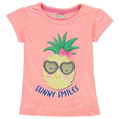 * Crafted  *  T-Shirt Top  Neon Peach Ananas  w. Next Englandmode