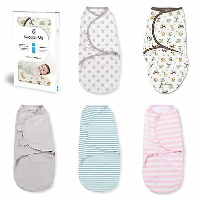 Swaddleme Summer Infant Cotton Print Single Stage 2 Large Swaddling 4-6m Various