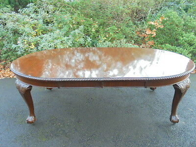 Antique Mahogany Wind Out Extending Dining Table 8Ft Long