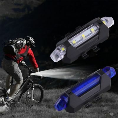 USB Rechargeable Bike Head / Front White Light Lamp Black Bicycle Cycling k^