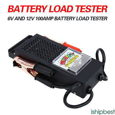 New Battery Load Tester 100 Amp Load Type 6V & 12V Mechanics 6 12 Volt Car Truck
