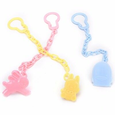 Baby Infant Dummy Pacifier Soother Chain Clip Holder