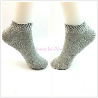 1pair summer Kids Boys 4 size Gray Crew low incision Sock Breathable Socks