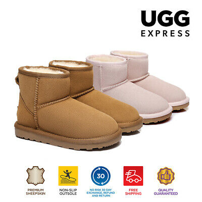 Kids UGG Boots - Child Mini Classic,Premium Australian Sheepskin