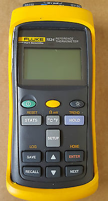 Fluke Hart Scientific 1524 Reference Thermometer with calibrated probe and case