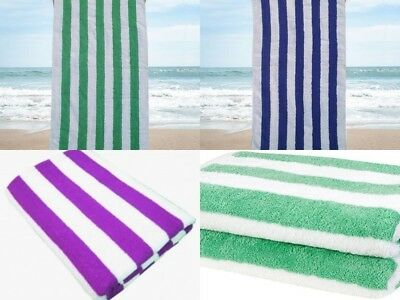 100% Egyptian Cotton Chlorine Resistant Striped Pool Towels Holiday Beach Towel