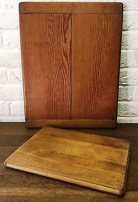 Two Rustic Pitch Pine/Pine Chopping Boards *Vintage Cheese/Bread Bistro/Pub Prop
