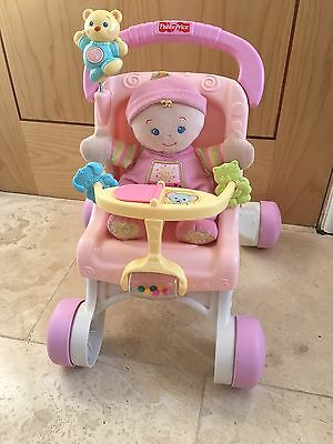 fisher price my first pram walker includes doll