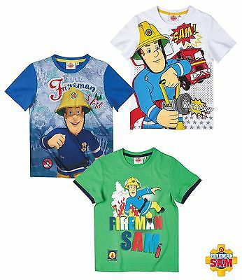 Official fireman sam Short Sleeve T-Shirt  100% Cotton 3-8  free 2nd class