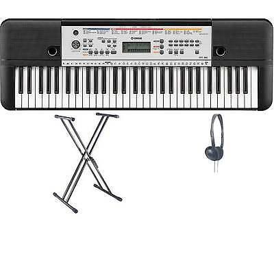 Yamaha YPT-260 Portable Keyboard XX Frame and Headphones Package