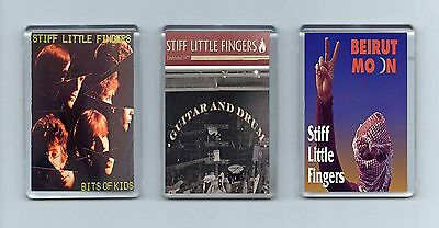 Magnets x 3 : STIFF LITTLE FINGERS Bits of kids Guitar and Drum Beirut Moon PUNK