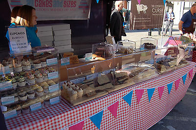 Cake Cupcake Stall Market Stand Display Food Festival Lot Packaging Tables