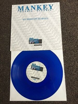 """Mankey - Double Trouble (Blue 10"""" Vinyl) - 1997 Limited Edition No 1007-exc Cond"""