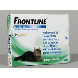 Frontline chat spot on 6 pipettes
