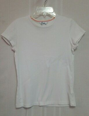Womens Lilly Pulitzer White Short Sleeve Cotton T-Shirt Top Small   ld