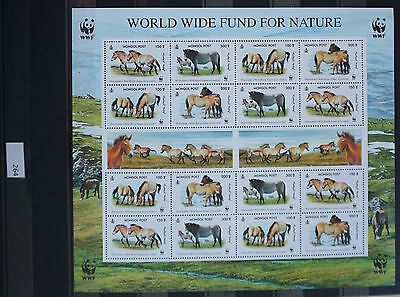 S0 0264 WWF Animals Mongolia MNH 2000 Sheetlet