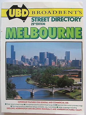 UBD street directory - Melbourne 1989 - Edition 29