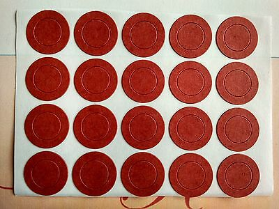 20 pcs Red Insulators Adhesive Paper for 1x  18650 Battery