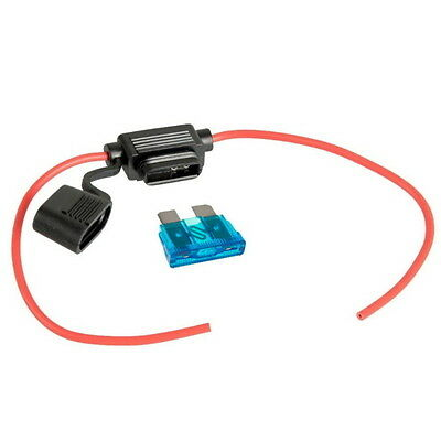 Support Porte Fusible Fil Cable + 30A Lame Fusible Standard 19mm Voiture Camion