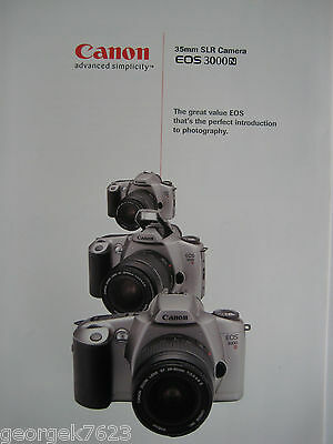 Canon EOS 3000n 35mm film camera sales brochure - 6 pages