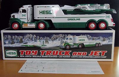 2010 HESS Toy TRUCK and JET Die Cast with Lights Ramp and Sound in Original Box