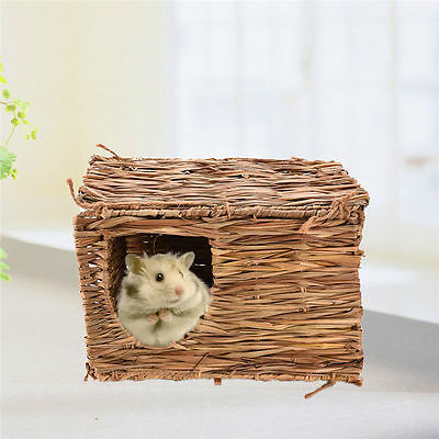 Square Pet Hamster Dry Wild Grass Weave nest Hamster Rabbit Chew play toy Mouse