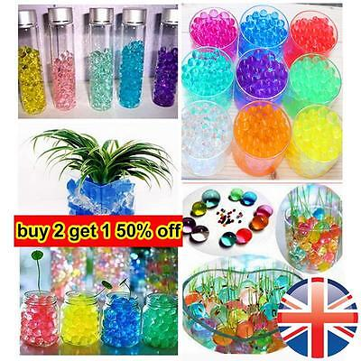 *UK Seller* 500 pcs Magic Water Beads Aqua Soil Bio Gel Balls Filler Centrepiece