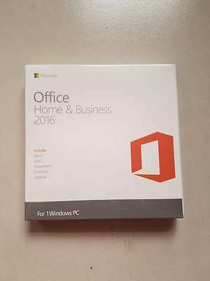 Genuine Microsoft Office Home and Business 2016 Key Card For Windows PC DVD+KEY