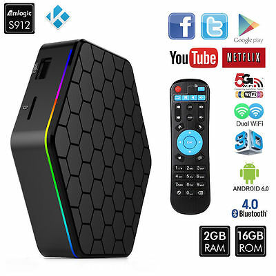 T95Z Plus TV Box Amlogic S912 Android Dual 5G WiFi Octa Core 2GB+16GB
