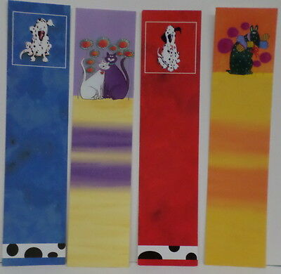 4 novelty  bookmarks (cats and dogs)