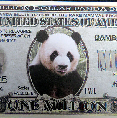 Panda FREE SHIPPING! Million-dollar novelty bill