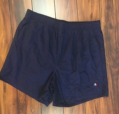 Men's Vintage Christian Dior Short Blue Swim Trunks Elastic Waist Size M Medium
