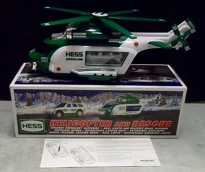 2012 HESS Die Cast TOY HELICOPTER and RESCUE TRUCK in Original Box and Packaging