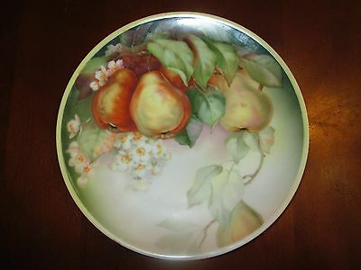 Vintage Thomas Sevres Hand Painted Signed Phillips Pear Plate Porcelain Bavarian