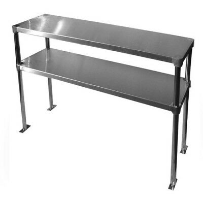 Double Overshelf Commercial Stainless Steel 14 x 60 for Work Table - Top Mount