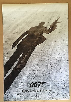 James Bond Quantum Of Solace Original Advance One Sheet Movie Poster 2008 ~ Vgc