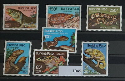 S0 1049 lizards, Reptiles Burkina Faso MNH 1985 Snakes Lizzards