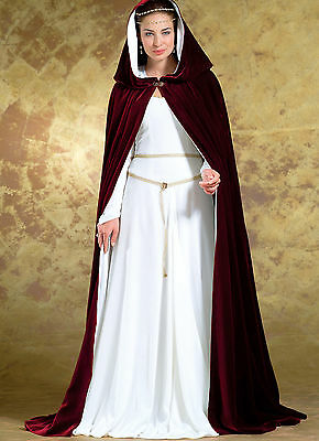 PATTERN Medieval dress Cape LOTR Galadriel Camelot Butterick 4377 L 14 16 18 20