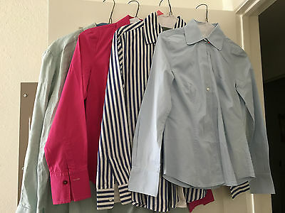 Wow! Lot Of 4 Cotton & Linen Shirts Great Quality Dry Cleaned Sz:4,8,m Ex. Cond!